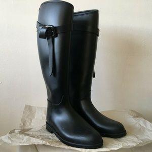 Burberry Roscot Black Belted Rain Boots EU size 35
